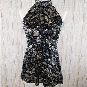 {MICHAEL Michael Kors} Silk Lace Print Top